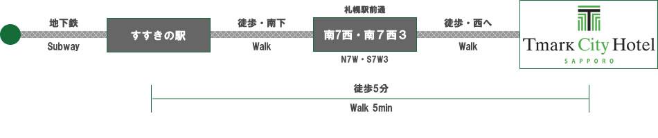 Tマークシティホテル札幌|交通案内|電車でお越しの方