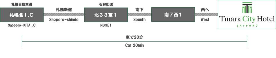 Tマークシティホテル札幌|交通案内|お車でお越しの方